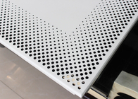 Decorative Commercial Ceiling Tiles , Perforated Acoustical Panel for Office Building