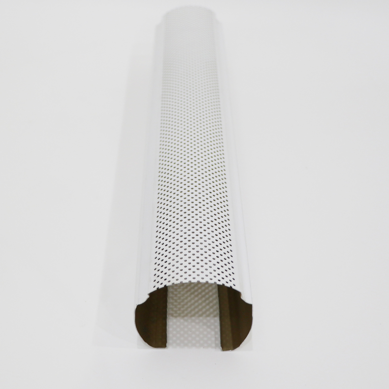 O-Shaped Perforated Decorative Aluminum Linear Baffle Ceilings Max Length 6000mm